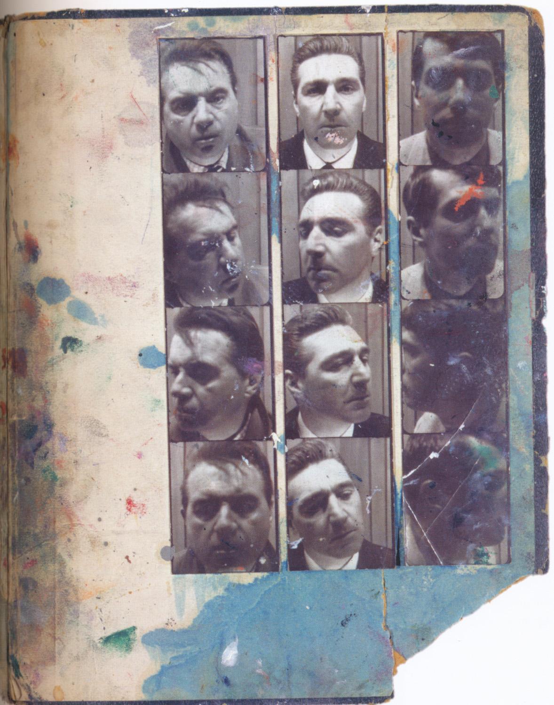 Fotomatones de Francis Bacon (izquierda) y dos de sus amigos (1966-1967)