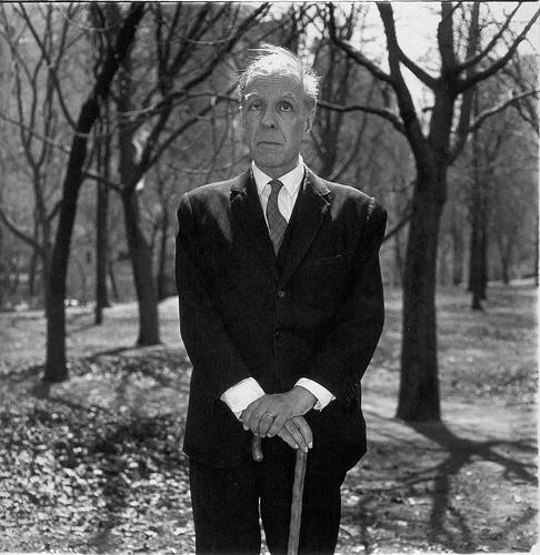 Borges retratado en Nueva York por Diane Arbus