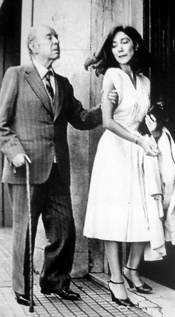Con María Kodama