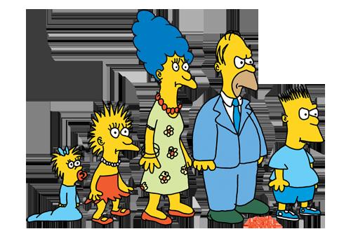 La familia Simpson tal y como aparecía en el Show de Tracey Ullman