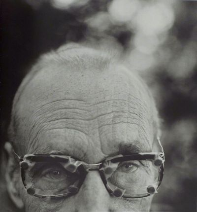 William S. Burroughs with Glasses, Kansas - Herb Ritts, 1990