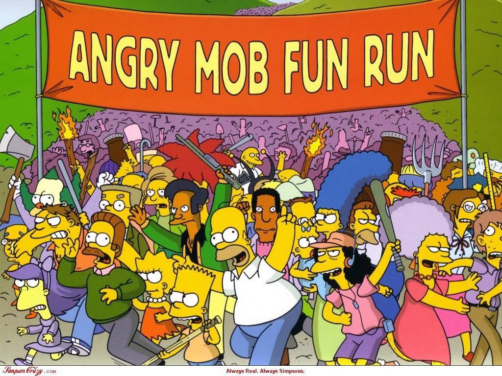 'La divertida carrera de la masa enfurecida'