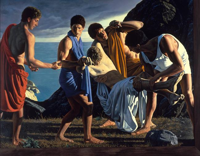 Aquiles y el cuerpo de Patroclo - David Ligare