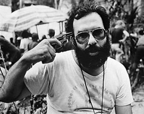 Francis Ford Coppola en el set de 'Apocalypse Now'