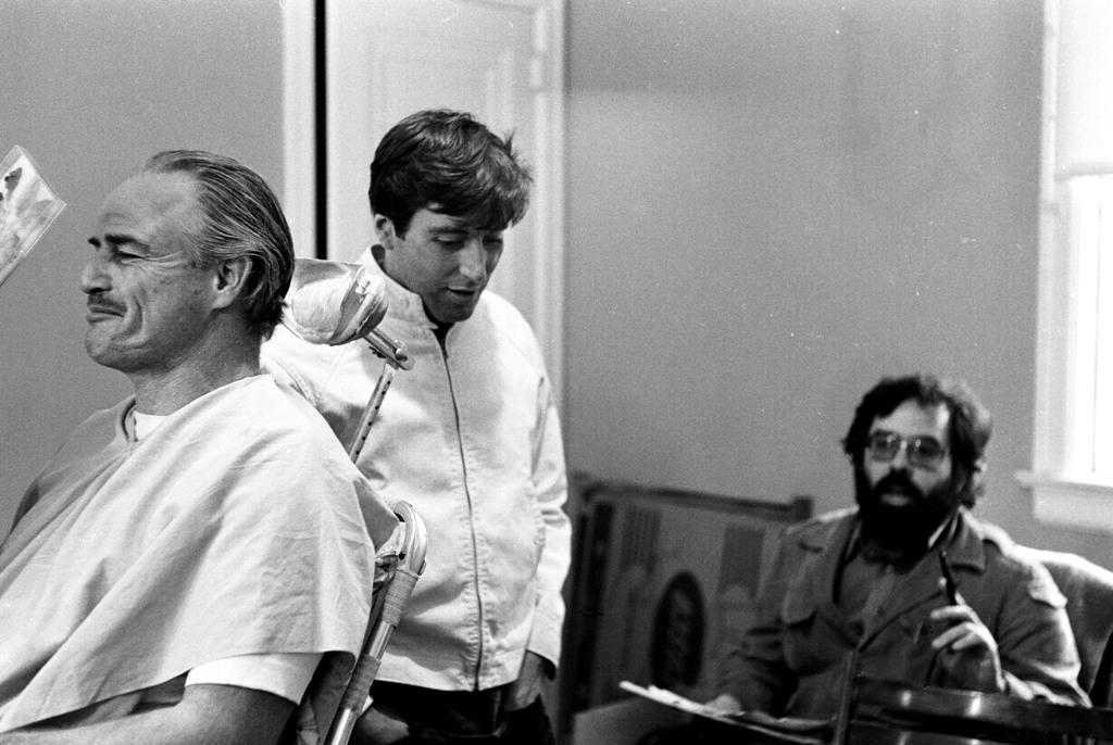 En maquillaje con Marlon Brando y Al Pacino - Steve Shapiro