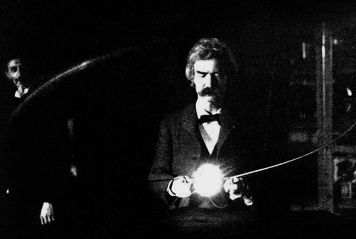 En el laboratorio de Tesla, 1894