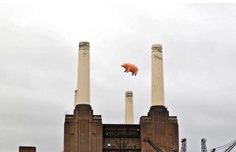 El nuevo 'Algie' sobrevoló Londres hace unos días © EMI Music Group 2011. Photographer: Anna Weber.