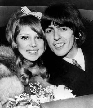 George y Pattie el día de su boda