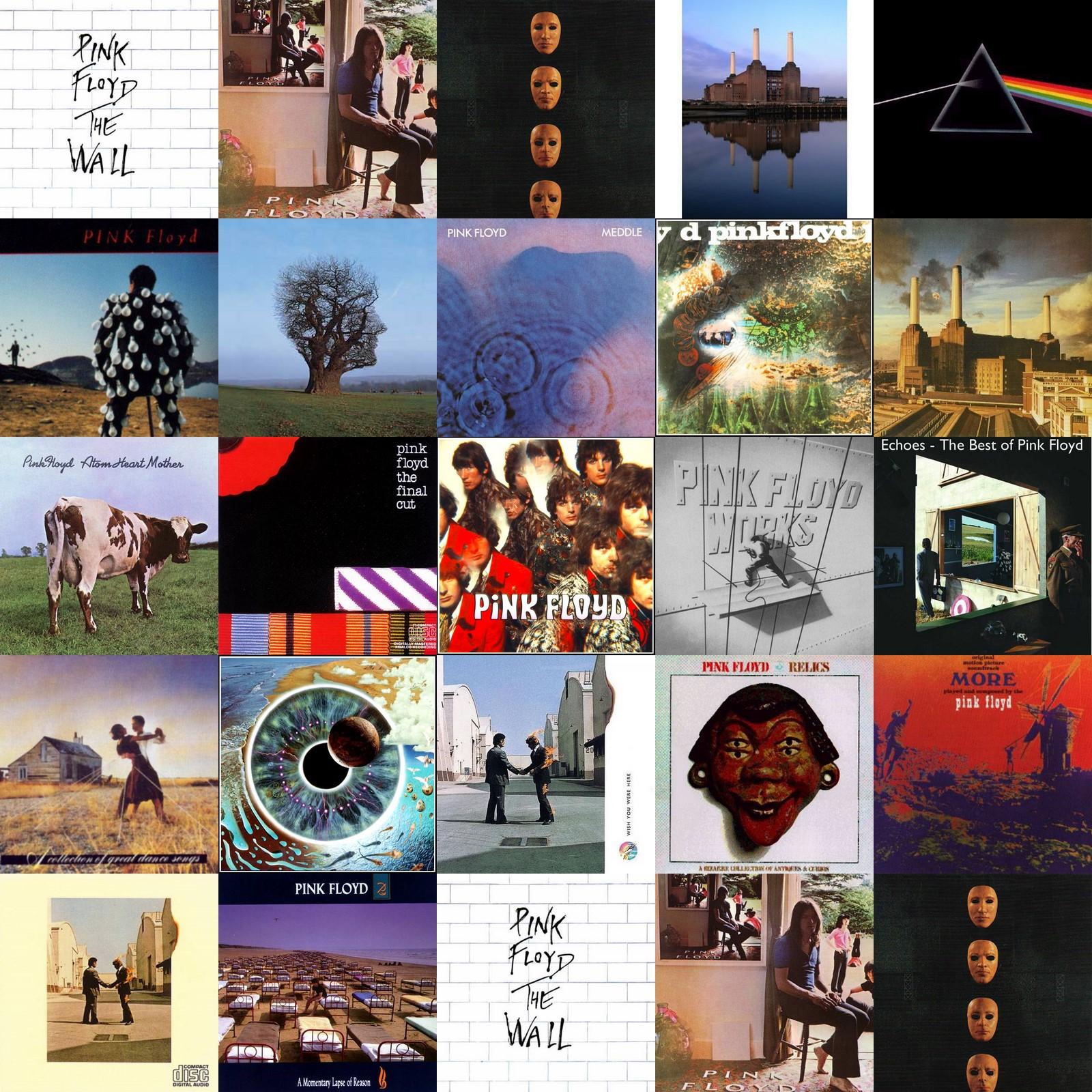 Algunos de los discos de Pink Floyd
