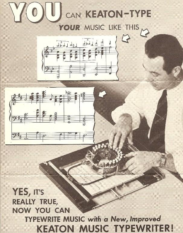 """Anuncio de los años cincuenta: """"Tú también puedes 'Keaton-teclear' tu música así"""""""