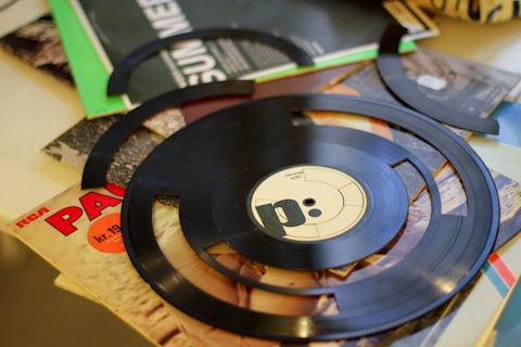 Uno de los discos cortados de Ishac Bertran