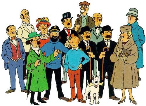 Personajes de los libros de Tintín