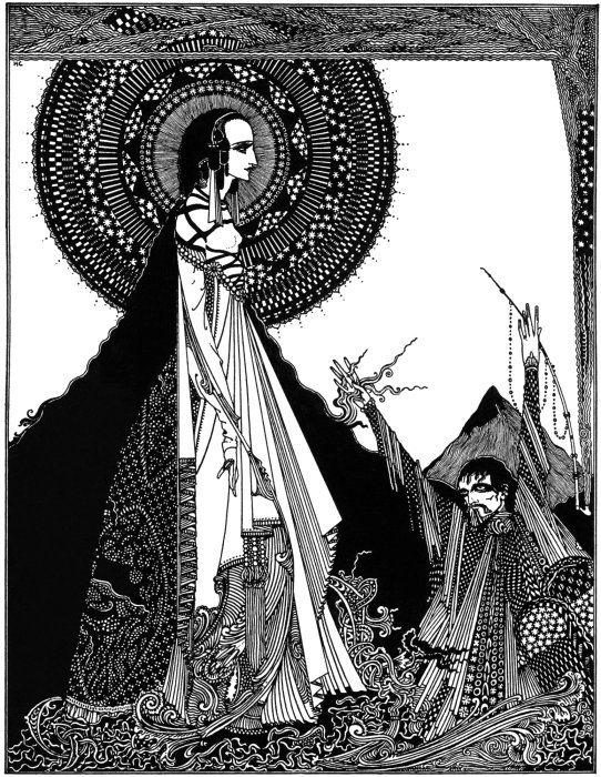 Dibujo del ilustrador Harry Clarke (1889-1931) para 'Ligeia'
