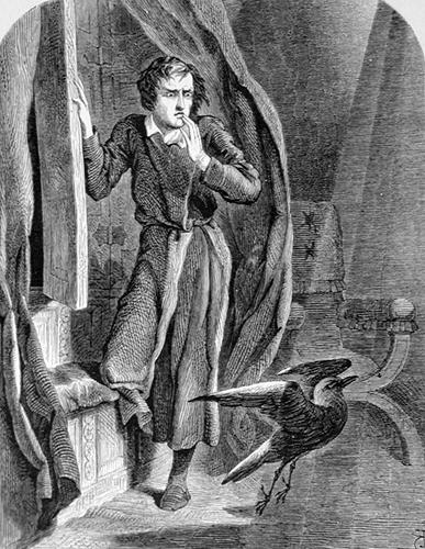 John Tenniel (famoso por sus dibujos de 'Alicia en el país de las maravillas') ilustra 'El cuervo'