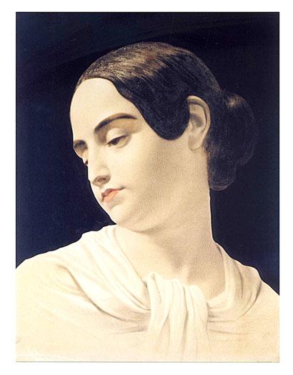 Virginia, retratada unas horas después de su muerte, cuando Poe se dio cuenta de que no había imágenes de su esposa viva