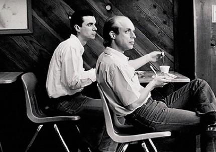 David Byrne (izquierda) y Brian Eno