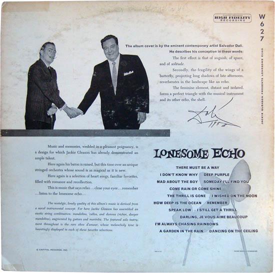 """Lonesome Echo"" - Jackie Gleason, 1955 (reverso)"