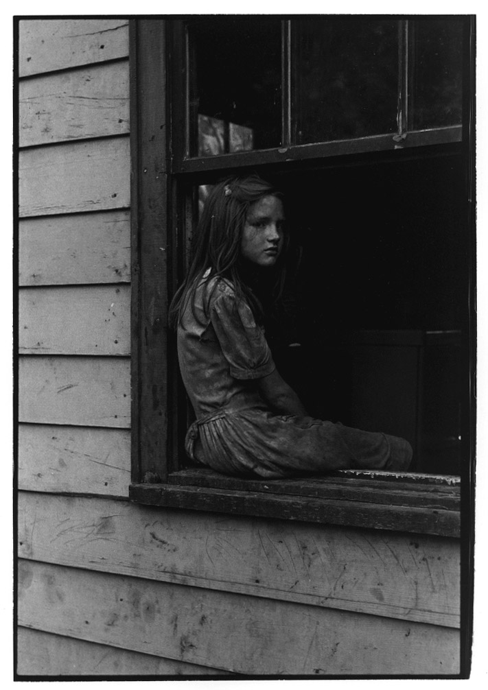 """Girl sitting on windowsill"" - William Gedney, 1964"