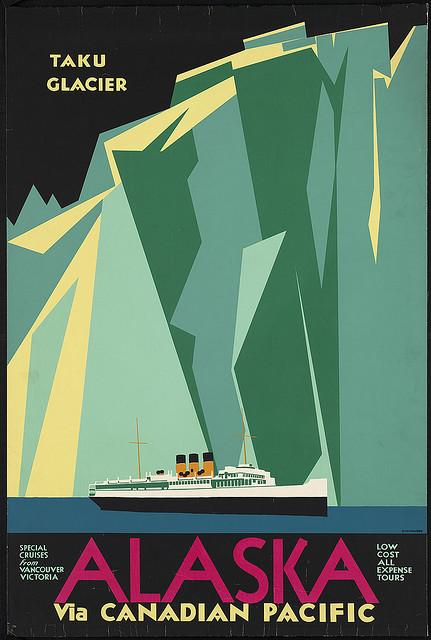 'Alaska via Canadian Pacific. Taku Glacier'