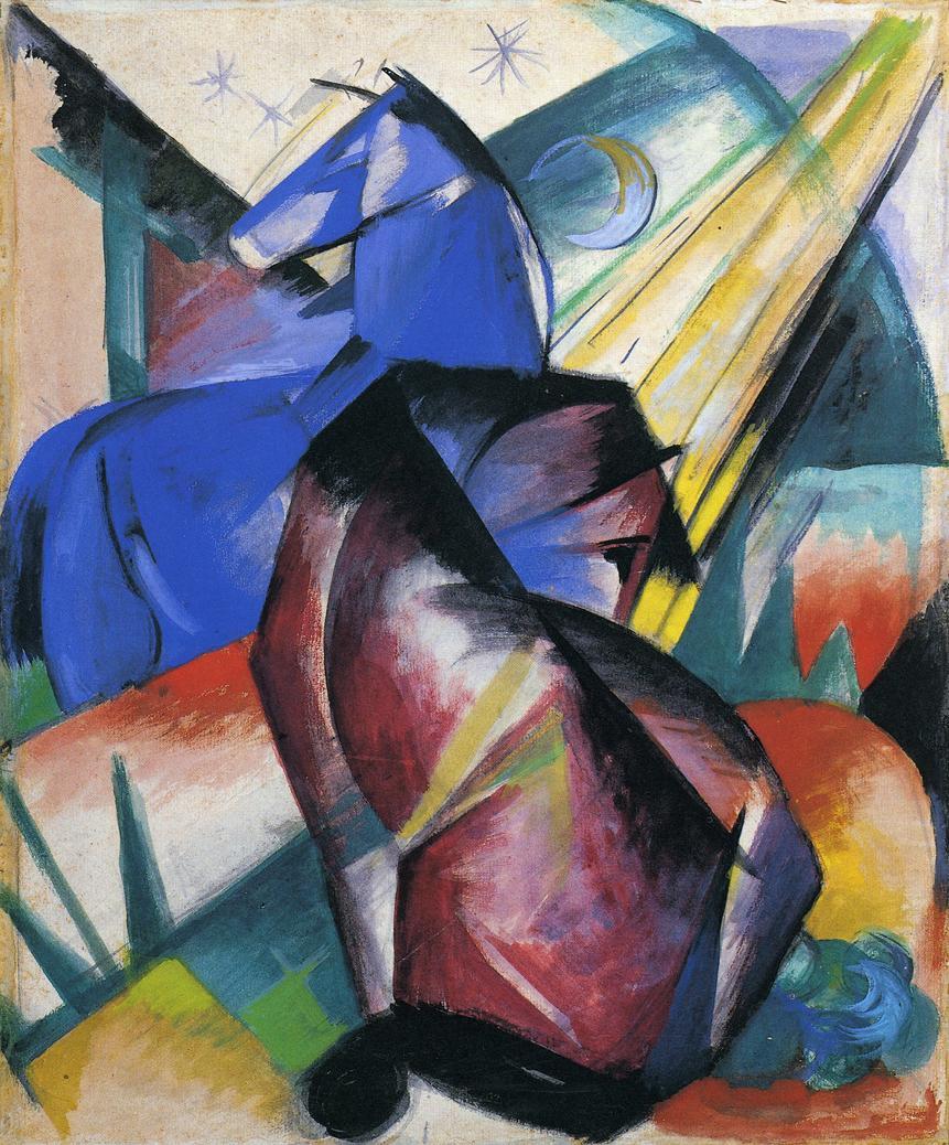 'Dos caballos, rojo y azul' (1912)
