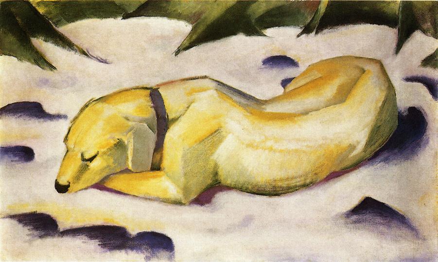 'Perro tumbado en la nieve' (1910-11)