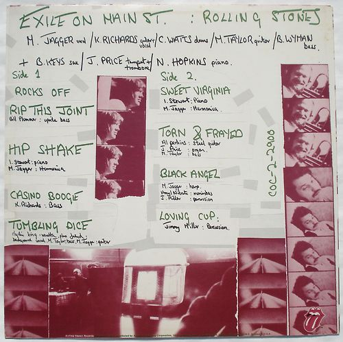 "Fotos para el disco ""Exile on Main St."" (The Rolling Stones, 1972)"