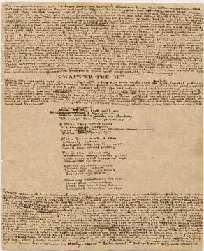 Uno de los pequeños manuscritos del 'Mundo de Angria'