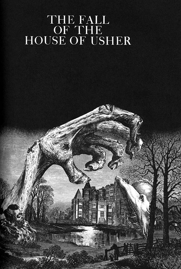 Dibujo de Sätty para 'La caída de la Casa Usher'