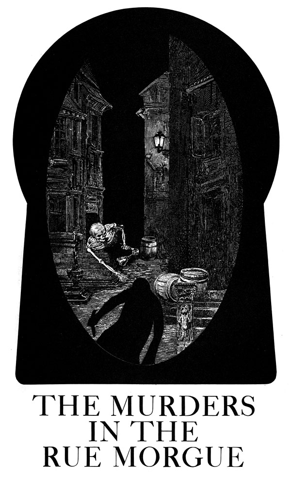 Dibujo de Sätty para 'Los asesinatos de la calle Morgue'