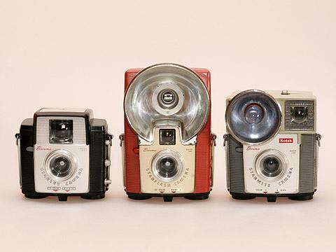 Tres modelos de Brownie. Desde la izquierda, Starlet, Starflash y Starmite.