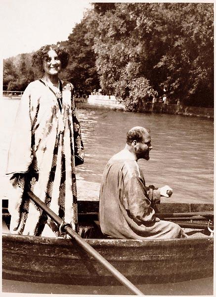 Emilie Flöge y Gustav Klimt en Attersee