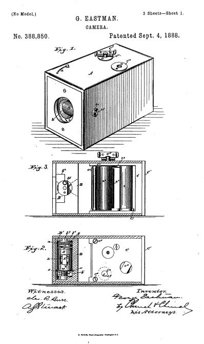 Patente 388,850, 4 de septiembre de 1888