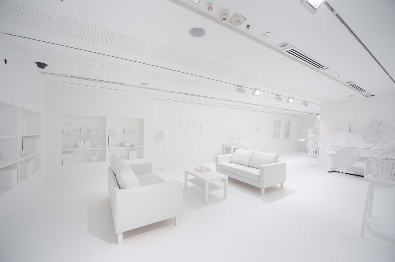 La 'habitación borrada' antes de los lunares