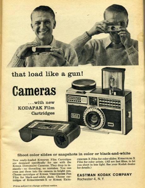 Anuncio de la Kodak Instamatic