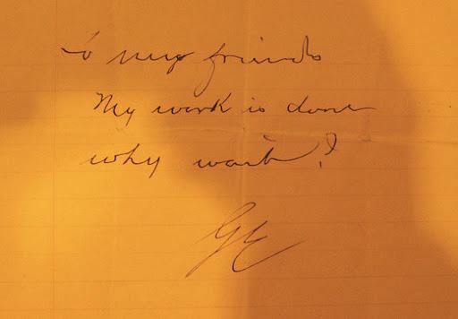 Nota de suicidio de George Eastman