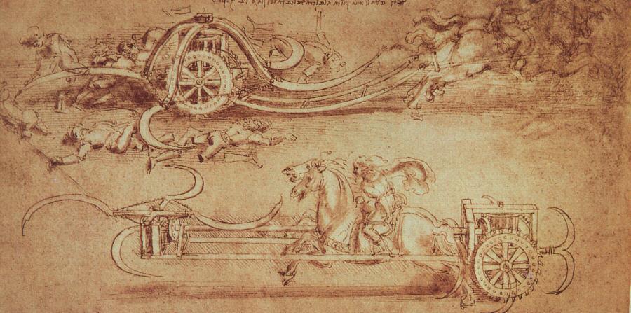 Diseño para un carro con guadañas (c.1487)