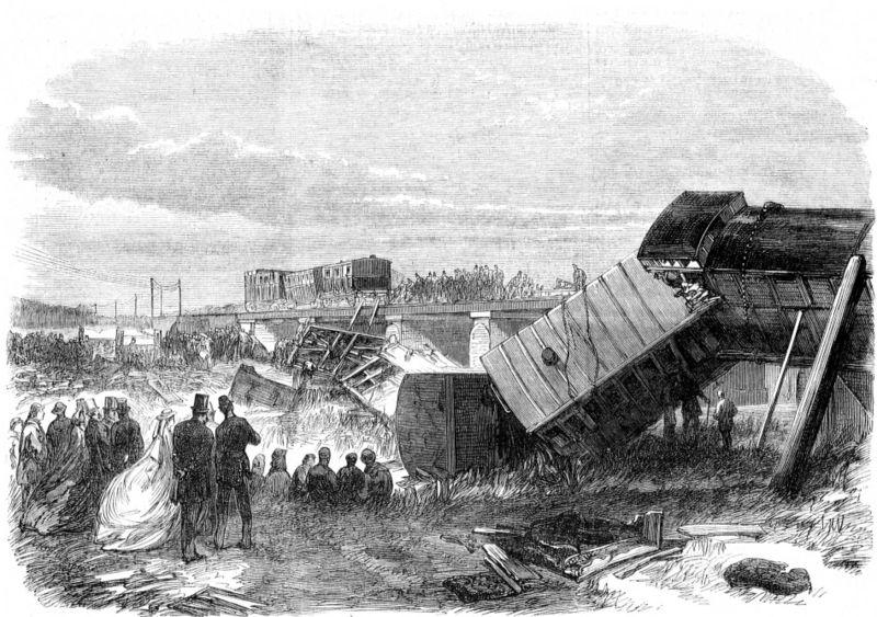Grabado sobre el accidente de tren de Staplehurst