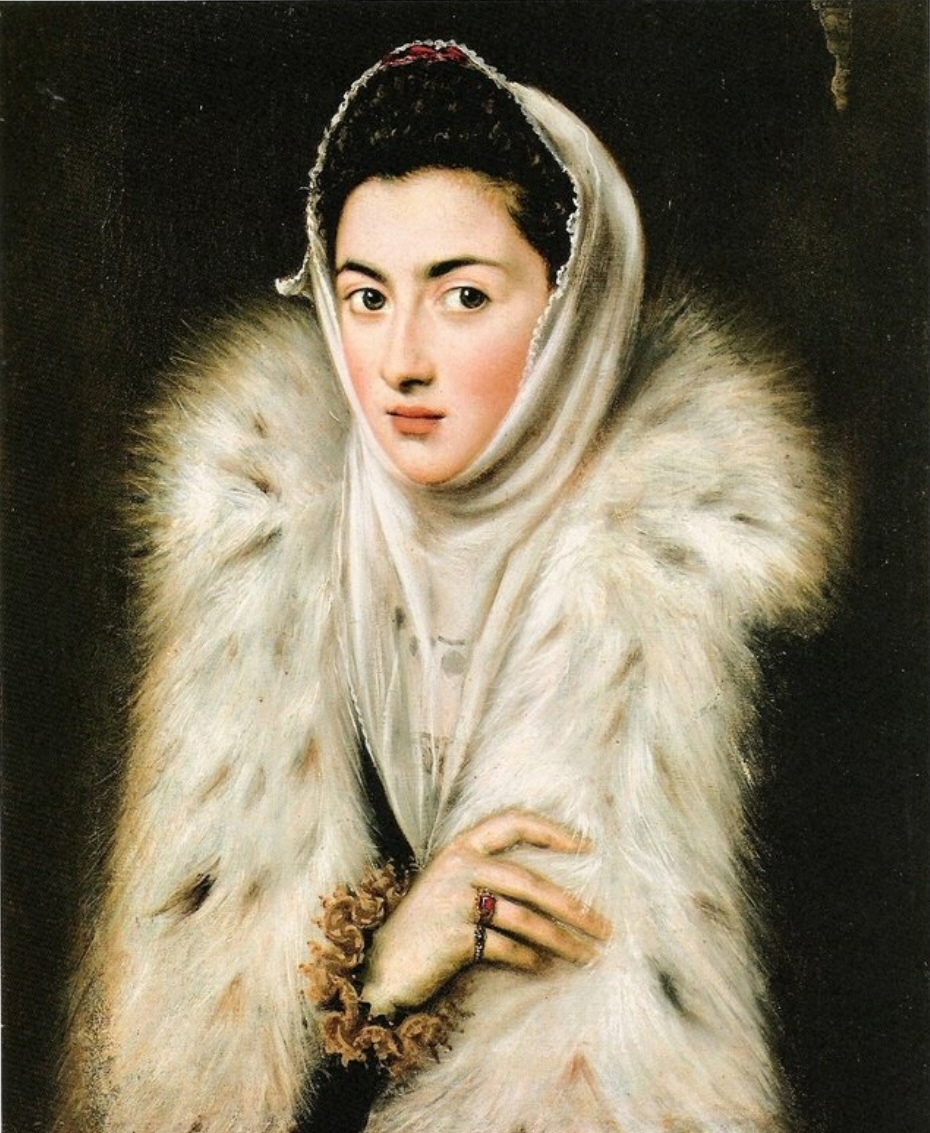 """Sofonisba Anguissola - """"La dama de armiño"""", 1580 (atribuido durante años a El Greco)"""