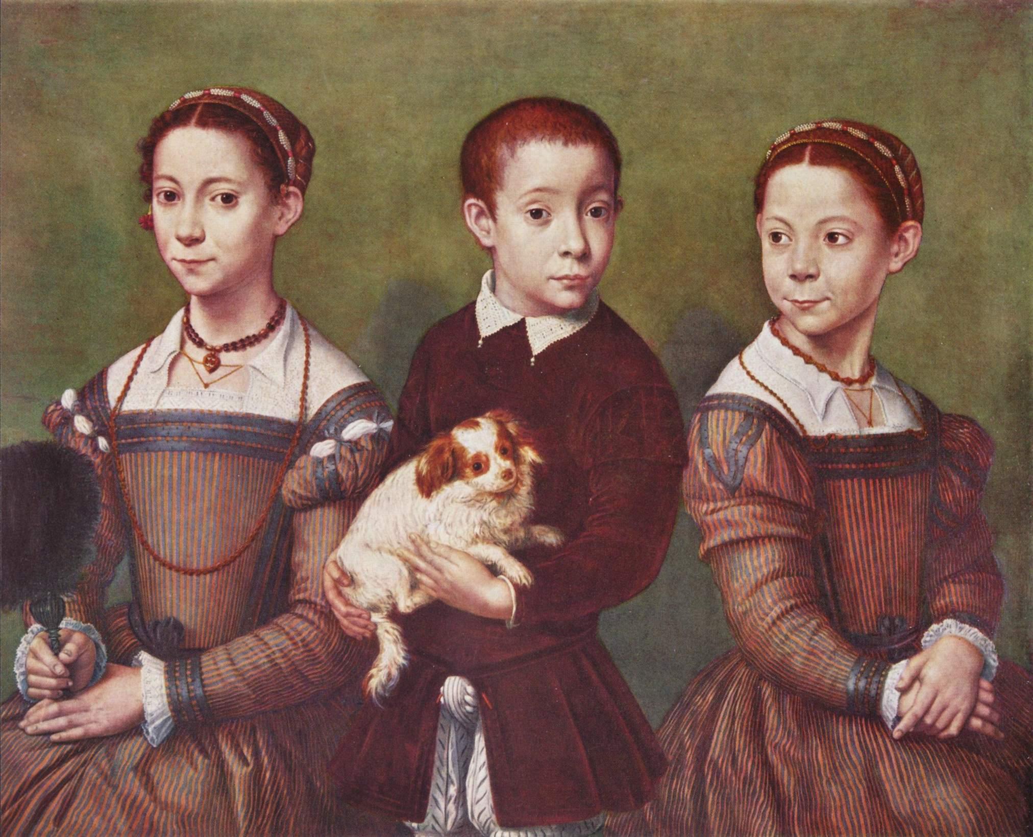 "Sofonisba Anguissola - ""Tres niños con perro"" (c. 1570)"
