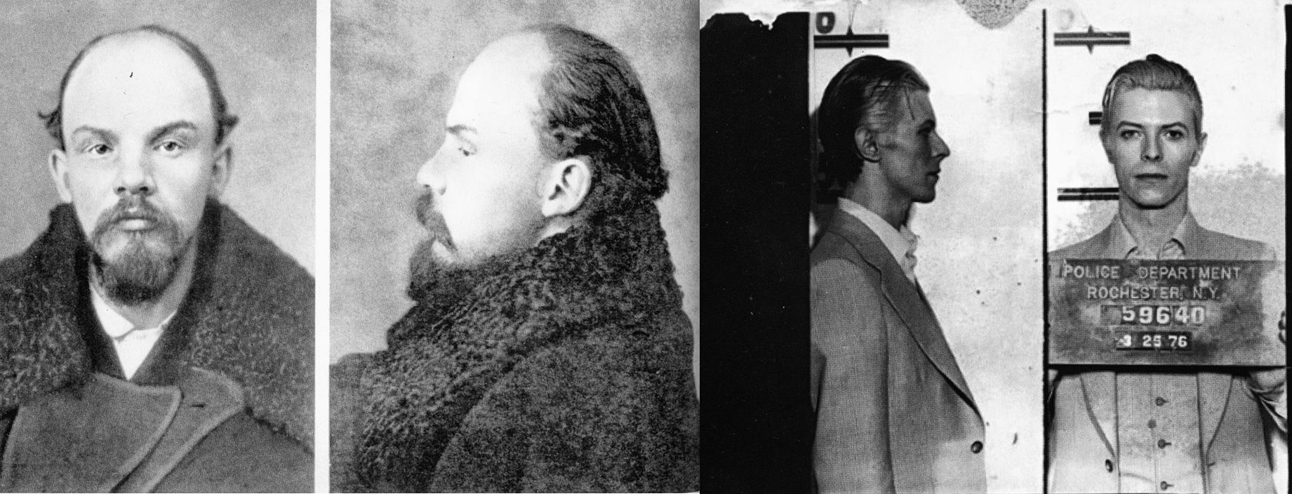 Lenin, 1895 (izquierda) y Bowie, 1976