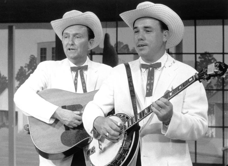 Los Foggy Mountain Boys: Earl Scruggs (derecha) y Lester Flatt.