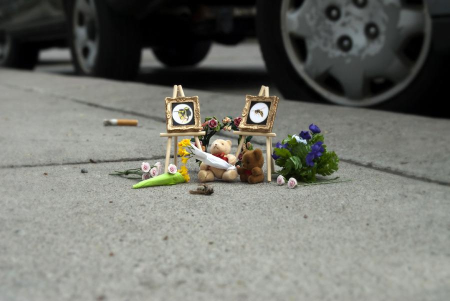 Uno de los homenajes de 'Bug Memorials'