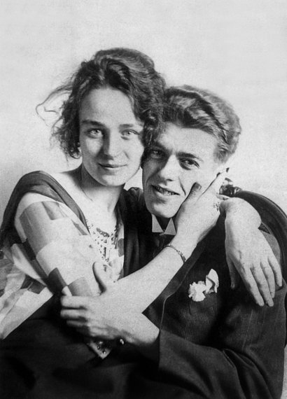 Magritte con su mujer Georgette
