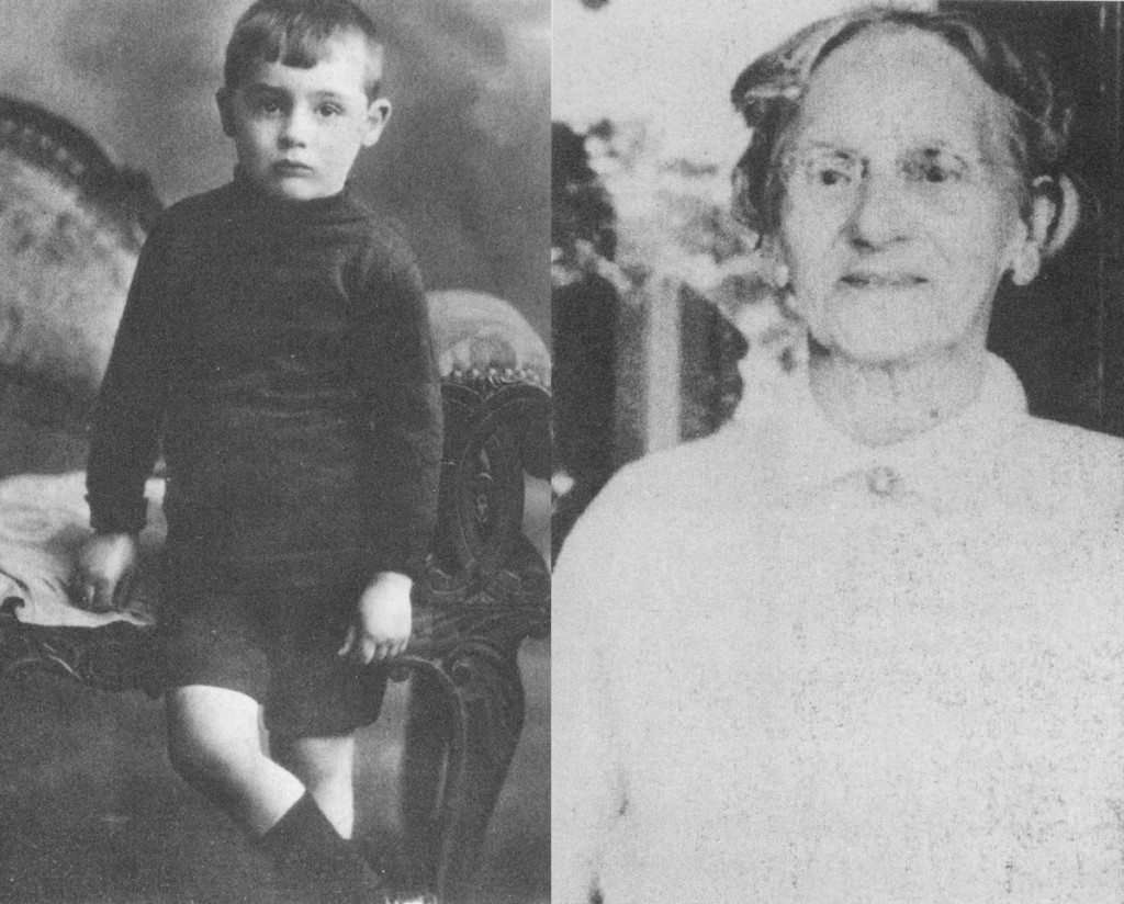 Archie Leach, el futuro Cary Grant,  y su madre, Elsie