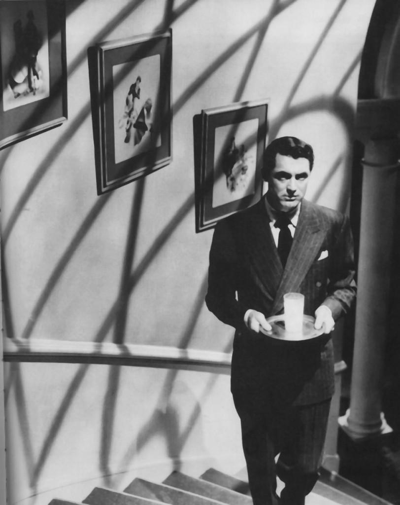 """En una de las escenas cumbre de """"Sospecha"""" (1941)"""