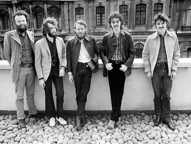 Desde la izquierda, Hudson, Manuel, Helm, Robertson y Danko