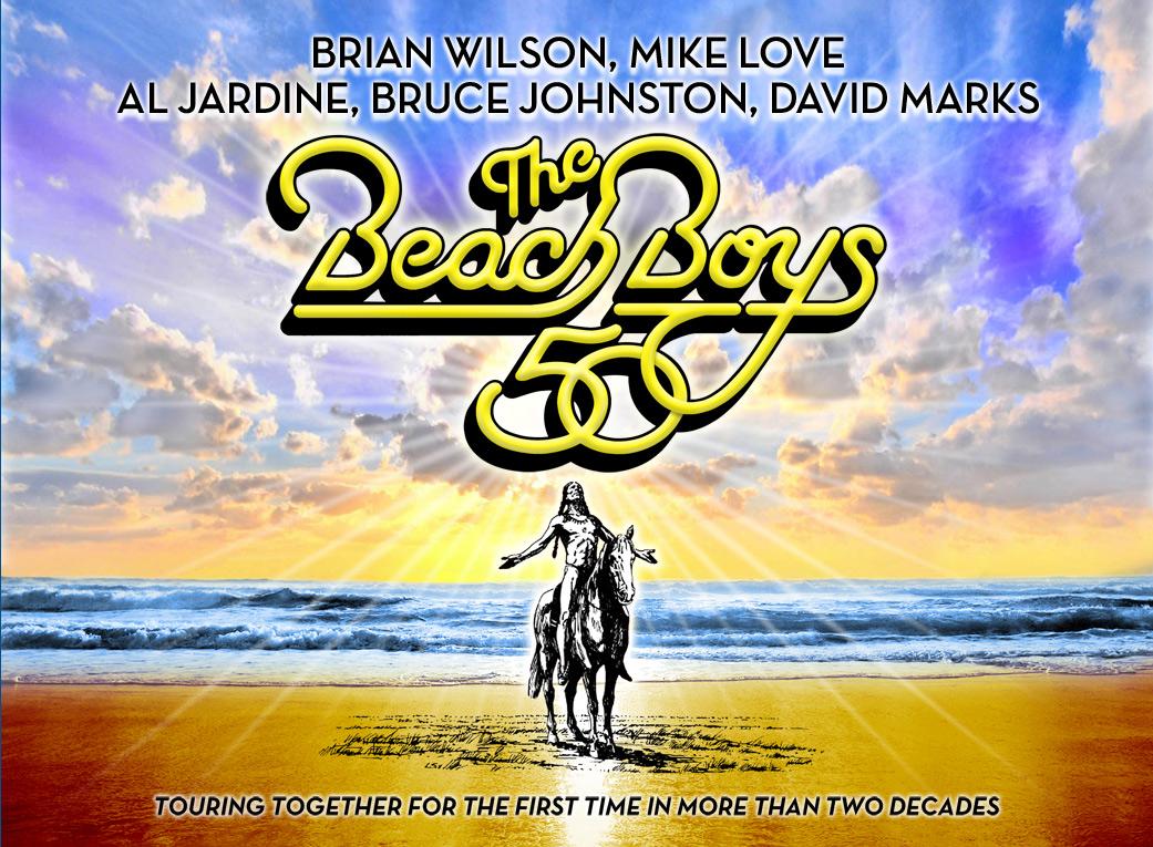 Cartel promocional de la gira mundial de los Beach Boys