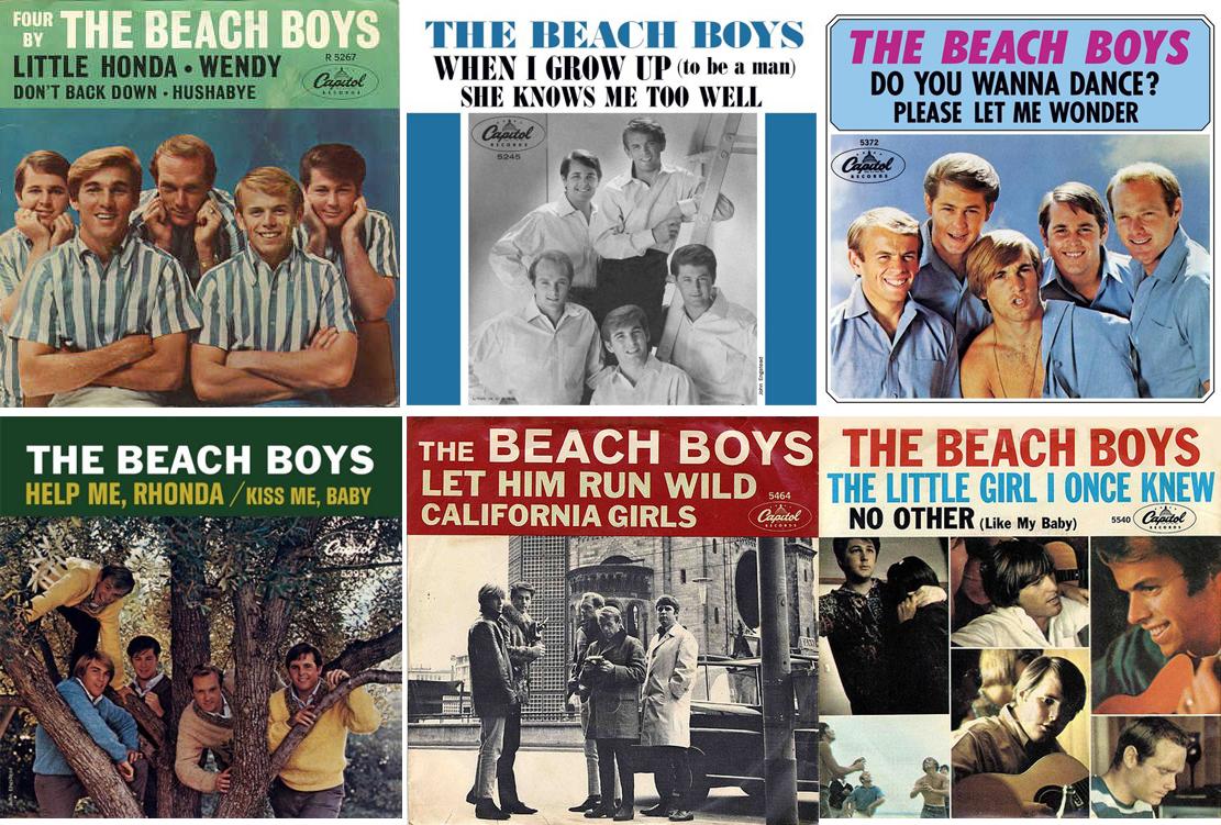 Seis singlesy EP's de los Beach Boys