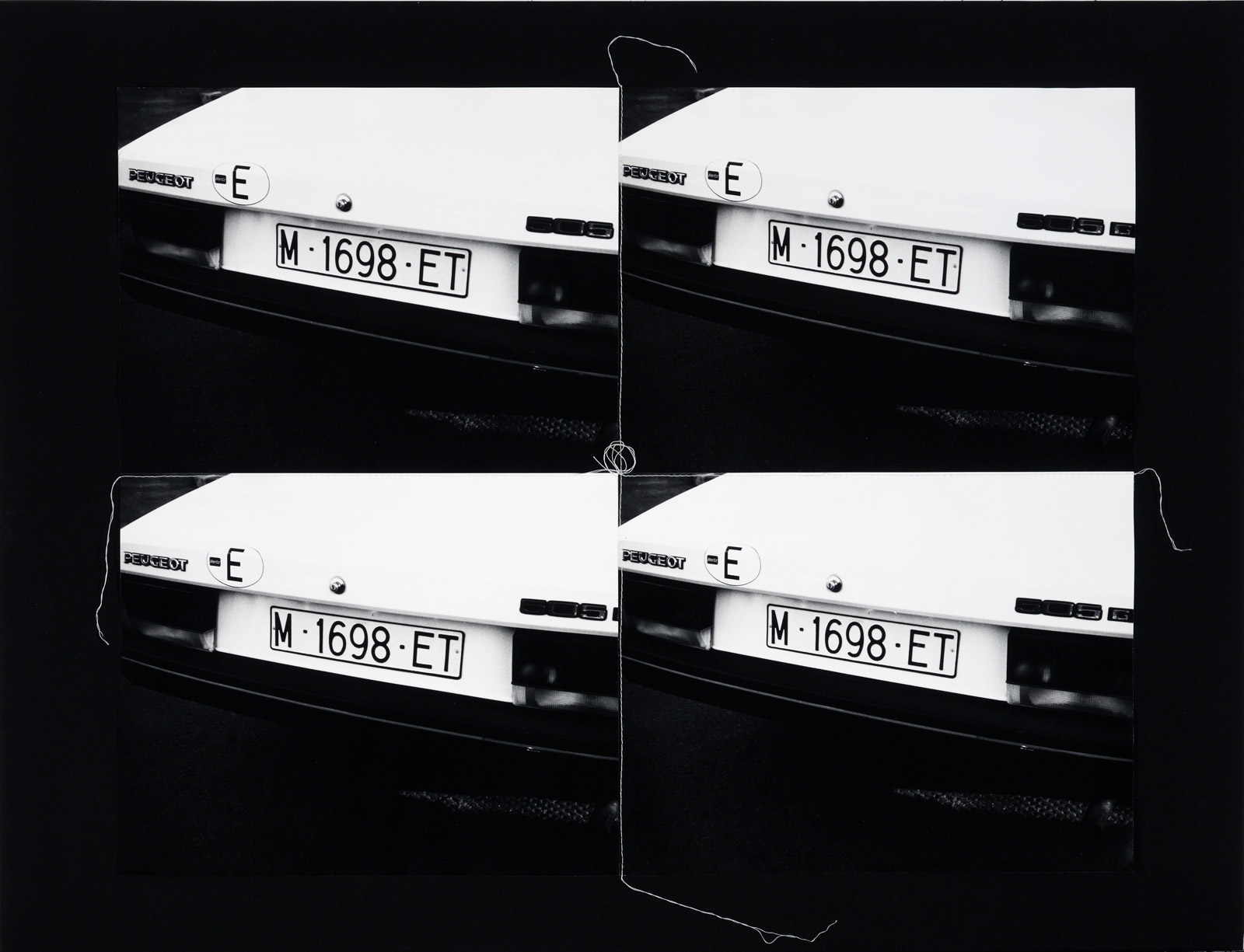 "Andy Warhol - ""European license plate"", 1986"