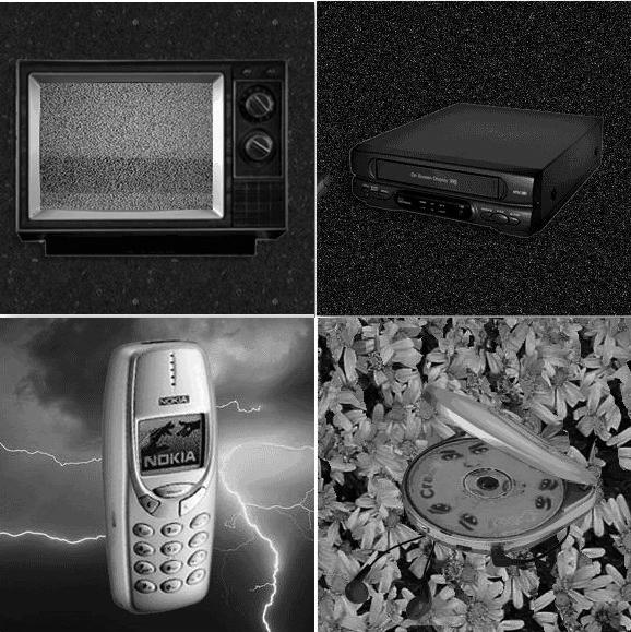 Cuatro de las reliquias del Museo de sonidos en peligro de extinción
